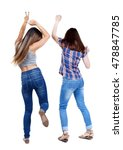 back view of two dancing young... | Shutterstock . vector #478847785