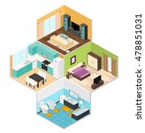 interior rooms of the house ... | Shutterstock .eps vector #478851031