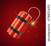detonate dynamite bomb on a red ...   Shutterstock .eps vector #478851655
