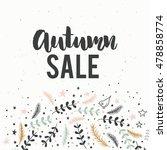 brush lettering sale poster ... | Shutterstock .eps vector #478858774