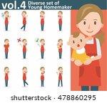 diverse set of yong homemaker... | Shutterstock .eps vector #478860295