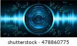 future technology  blue eye... | Shutterstock .eps vector #478860775