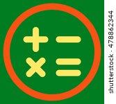 calculator vector bicolor... | Shutterstock .eps vector #478862344