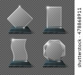 empty glass trophy awards... | Shutterstock .eps vector #478868911