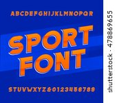 oblique alphabet vector font....   Shutterstock .eps vector #478869655