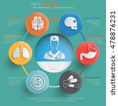 medical info graphic design on ... | Shutterstock .eps vector #478876231