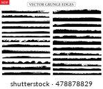 vector brush strokes.set of...   Shutterstock .eps vector #478878829