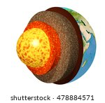 structure of the earth. model... | Shutterstock . vector #478884571