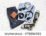overhead view of men's casual... | Shutterstock . vector #478886581