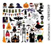 halloween fashion flat icons... | Shutterstock .eps vector #478890349