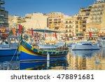 st.julian's  malta   colorful... | Shutterstock . vector #478891681