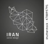 iran vector dark triangle... | Shutterstock .eps vector #478895791