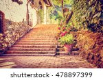 beautiful old street  vintage... | Shutterstock . vector #478897399