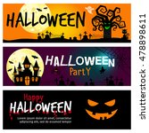 happy halloween banners.... | Shutterstock .eps vector #478898611