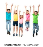 beautiful children in colorful... | Shutterstock . vector #478898659