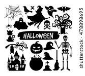 Halloween Black Silhouettes....