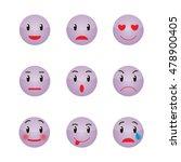 set of emoticons. set of emoji | Shutterstock .eps vector #478900405