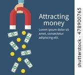 attracting money concept.... | Shutterstock .eps vector #478900765