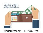 opened wallet in man hands... | Shutterstock .eps vector #478902295