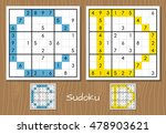 sudoku set with answers. c  d... | Shutterstock . vector #478903621