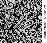 seamless paisley background... | Shutterstock .eps vector #478904995