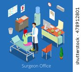 isometric surgeon office with... | Shutterstock .eps vector #478912801