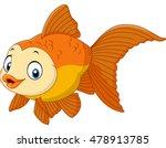 cartoon golden fish | Shutterstock .eps vector #478913785