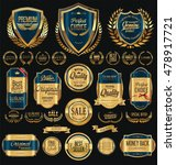 quality golden badges and... | Shutterstock .eps vector #478917721
