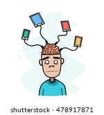 enslaved by technology. a hand... | Shutterstock .eps vector #478917871