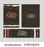 merry christmas lettering on...   Shutterstock .eps vector #478918291
