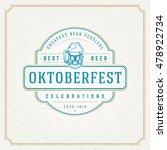 oktoberfest greeting card or... | Shutterstock .eps vector #478922734