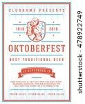 oktoberfest beer festival...   Shutterstock .eps vector #478922749