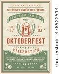 oktoberfest beer festival...   Shutterstock .eps vector #478922914