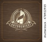 oktoberfest greeting card or... | Shutterstock .eps vector #478922935