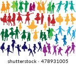 illustration with dancing child ... | Shutterstock .eps vector #478931005
