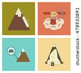 assembly flat icons mountains... | Shutterstock .eps vector #478933891