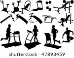 gym equipment  made in the... | Shutterstock .eps vector #47893459