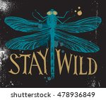 background with dragonfly and... | Shutterstock .eps vector #478936849