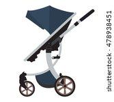 moder vector baby stroller with ... | Shutterstock .eps vector #478938451