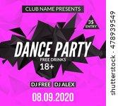night dance party design... | Shutterstock .eps vector #478939549