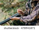 male hunter in the autumn... | Shutterstock . vector #478941871