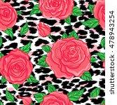 seamless elegant vintage floral ... | Shutterstock .eps vector #478943254