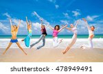 on a sunny day jumping wild  | Shutterstock . vector #478949491