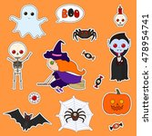 set of cute cartoon monsters... | Shutterstock .eps vector #478954741
