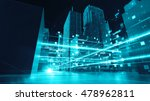 abstract 3d city rendering with ... | Shutterstock . vector #478962811