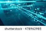 abstract 3d city rendering with ... | Shutterstock . vector #478962985