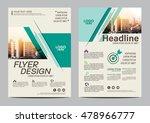 green brochure layout design... | Shutterstock .eps vector #478966777