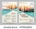 green brochure layout design... | Shutterstock .eps vector #478966801