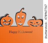 halloween background. vector... | Shutterstock .eps vector #478967767