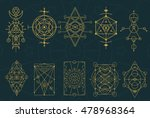 a set of abstract symbol in... | Shutterstock .eps vector #478968364
